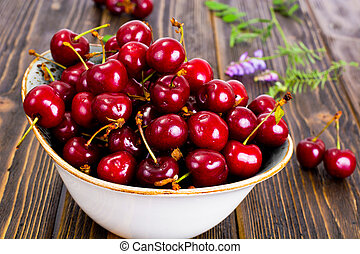 Sweet Cherries Studio Photo