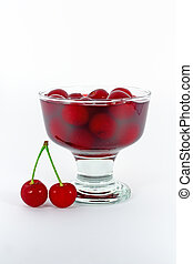 Sweet cherry compote