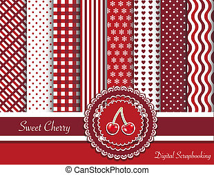 Sweet cherry digital scrapbooking