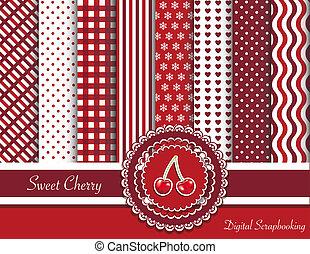 Sweet cherry digital scrapbooking - Digital scrapbooking...