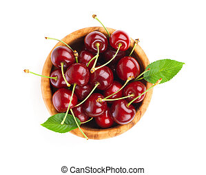 Sweet cherry, isolated on white background