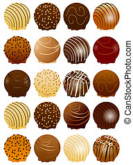 Sweet chocolate background