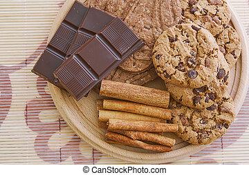 Sweet chocolate foods