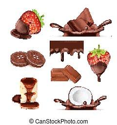 Sweet chocolate set