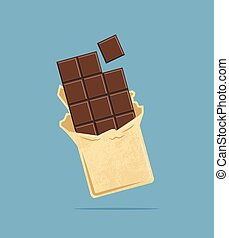 chocolate tile. vector illustration.