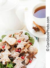 Sweet Christmas dessert - vanilla cookies