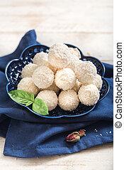 Sweet coconut pralines