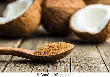Sweet coconut sugar.
