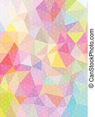Sweet color triangle and circle texture background