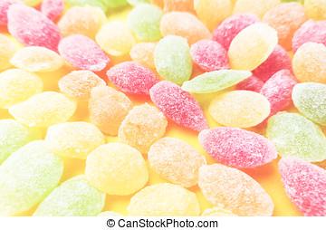 Sweet colored lollipops