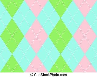 Sweet colors argyle seamless pattern
