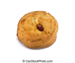 sweet cookie isolated on a white background