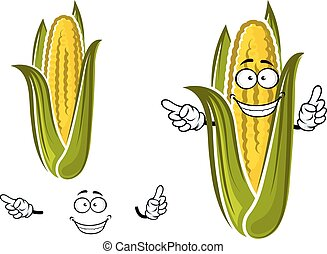 Sweet corn or maize vegetable character - Sweet corn or...