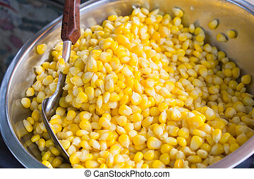 Sweet Corn with Butter in a bowl.