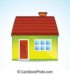 illustration of cottage on white background