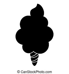 sweet cotton candy pictogram