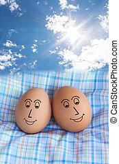 Sweet couple egg