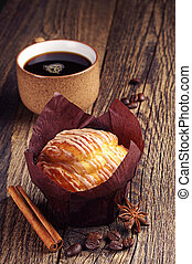 Sweet cupcake and coffee