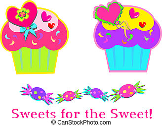 Sweet Cupcakes and Candy - Here is a mix of Sweets for your...