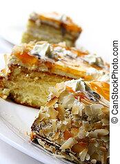 sweet dessert fruit cake - sweet dessert fruitcake with...