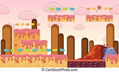 Sweet Dessert Land Game Template
