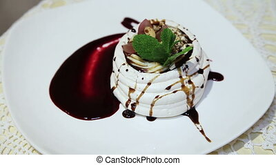 Sweet dessert of meringue