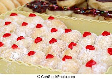 sweet donuts at street food