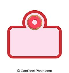 sweet donuts frame icon