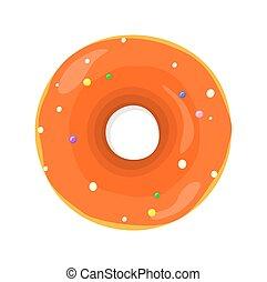 Sweet Donuts Set Design Flat Food