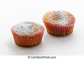 Sweet donuts with icing sugar