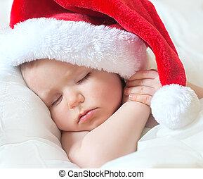 Sweet dream small santa before Christmas