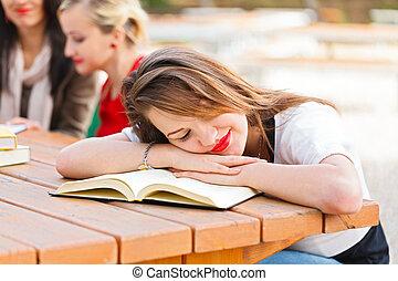Sweet Dreams - She Should Learn - Student falling asleep ...