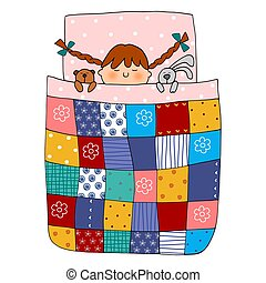 Sweet dreams - Colorful graphic illustration for children
