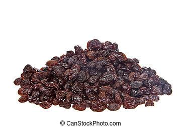 Sweet Dried Raisins in a white background