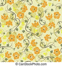 Sweet Floral seamless pattern background. Romantic background. Vector illustration.