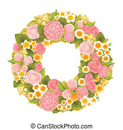 Sweet flower wreath