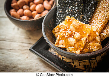 Sweet food made ??from peanuts, creative for snack food