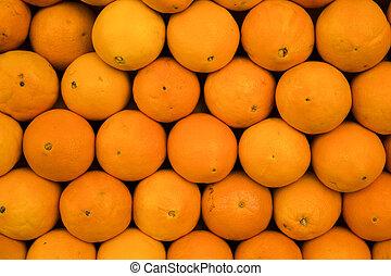 Sweet fresh and juicy oranges