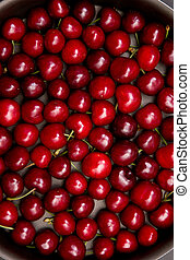 Sweet fresh cherry background