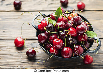 Sweet fresh cherry