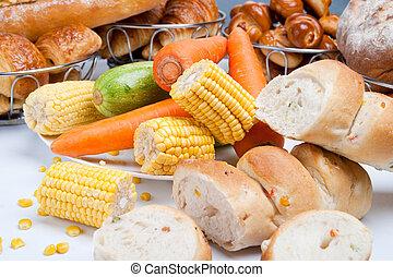 sweet fresh corn bread