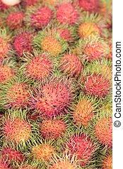 Sweet fruits rambutan