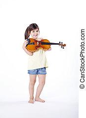 sweet girl playing violin