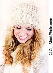 sweet girl - woman winter portrait