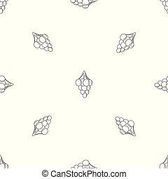 Sweet grape pattern seamless vector