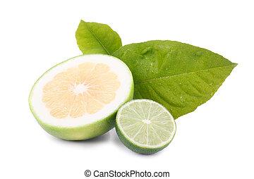 sweet grapefruit and lemon