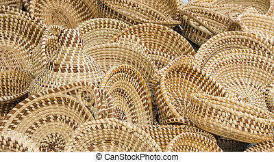 Sweet Grass Baskets - A collection of hand woven baskets...