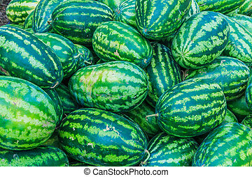 Sweet green watermelons