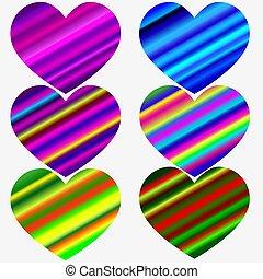 Sweet heart - rainbow gradient color handwritten vector letterin