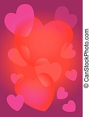 Sweet Hearts Abstract Vector background